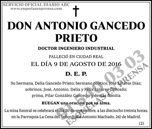 Antonio Gancedo Prieto